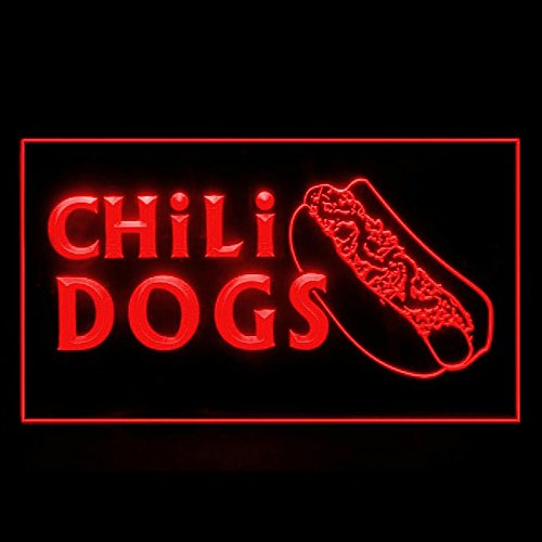 110191 Chili Dogs hot Dog Fast Food Display LED Light Sign