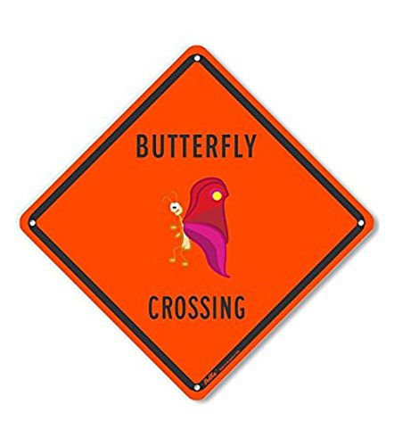 PetKa Signs and Graphics PKAC-0329-NP/_10x10Butterfly Crossing Plastic Sign 10 x 10