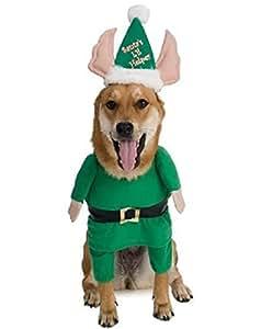 Rubie's Santa's Little Helper Elf Pet Costume, Large