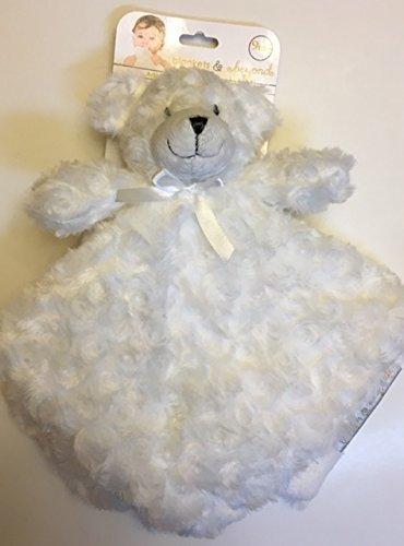 Blankets & Beyond White Rosette Bear Security Blanket - Bear Travel Blanket