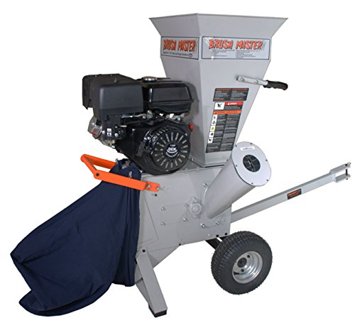 BRUSH MASTER CH3M17 270cc 3'' Diameter Feed Commercial Duty Chromium Chipper Shredder by Brush Master