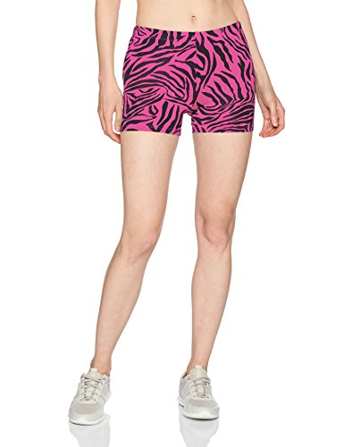 - Soffe Women's Juniors Printed Compression Shorts, Fuchsia Zebra, X-Large
