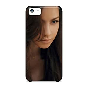 New Style Tpu 5c Protective Case Cover/ Iphone Case - Long Long Hair Hd