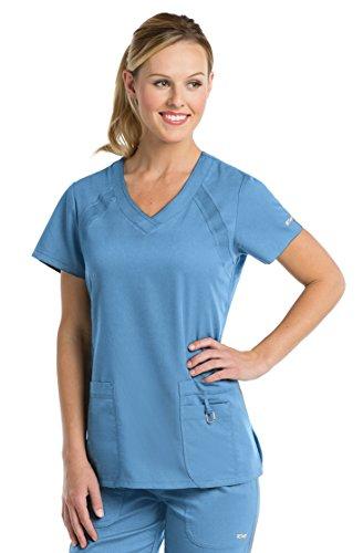 Grey's Anatomy 41447 3 Pocket Knit Side Panel Scrub Top