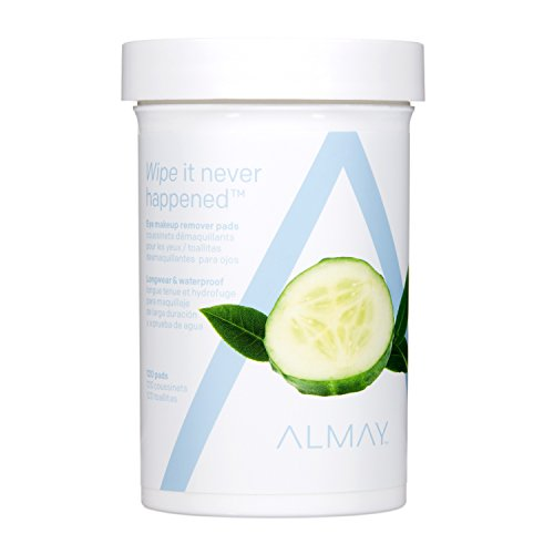 Almay Longwear & Waterproof Eye Makeup Remover Pads, 120 Counts - Gentle Eye Makeup Remover