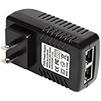 48V PoE Injector Adapter Power supply, 10/100Mbps IEEE 802.3af compliant Ethernet Adapter with Wall Plug up to 100 meters (328 Feet) for PoE Cameras/IP Voip Phones and other PoE devices
