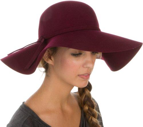 Sakkas Womens 100% Wool Wide Brim Foldable Floppy Hat - Buy Online in Oman.   e7c6bf926dd