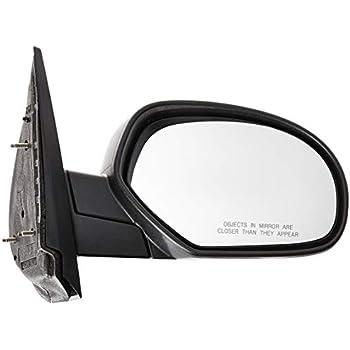 Mirror Compatible with 2007-2013 Chevrolet Silverado 1500//Silverado 2500 HD//Silverado 3500 HD//Avalanche//Suburban 2500 Manual Manual Folding Signal and Pdl Light Textured Black Passenger Side