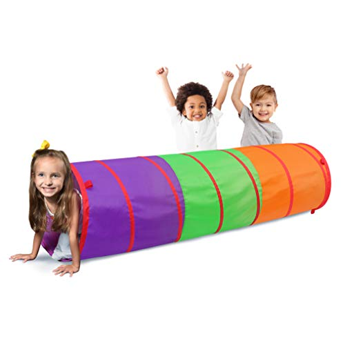 41Irhe2OJAL - Sunny Days Entertainment 6-Foot Assembly-Free Adventure Play Tunnel for Kids Indoor & Outdoor Pop-Up Crawl Toy