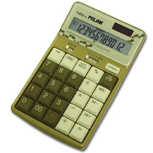 Milan 1504127y/ /Calculatrice 12/chiffres couleur jaune