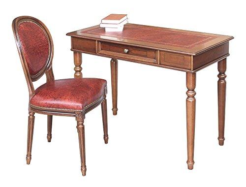 Lederstuhl mit Schreibtisch Büro-Set
