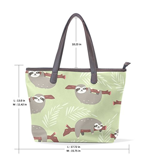 Handle Baby Floral Women Flowers Bags Cute Shoulder Tote Patern Large Top Bennigiry Sloth Handbag Tree Ladies wRxP8Anq