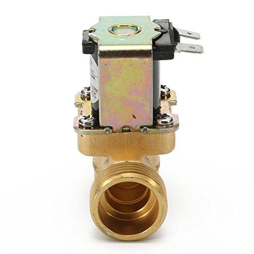 MASUNN 3//4 Pulgadas 12V Dc Vdc Slim Lat/ón V/álvula Solenoide Npsm Gas Agua Aire N//C