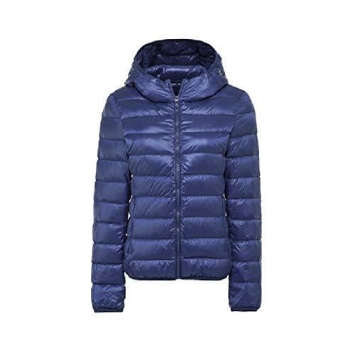 Ultraleggero Con Blu Cappotto Scuro Packable Rkbaoye Cappuccio Traspirante Womens Winter Piumino zxqnYA0I