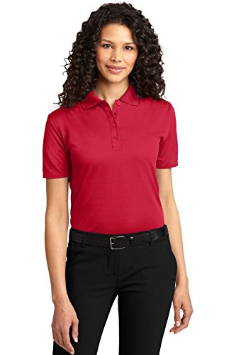Port Authority Women's Dry Zone Ottoman Polo 4XL Engine Red