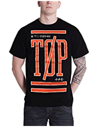 21 Twenty One Pilots T Shirt Sports stack band logo new Official Mens Black