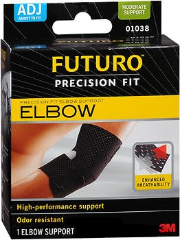 Futuro Precision Fit Elbow Support Adjust to Fit - Each, Pack of 5 by Futuro