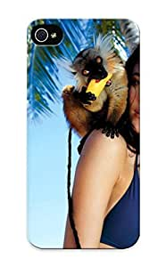 Girl With A Monkey Case Compatible With Iphone 5/5s/ Hot Protection Case by mcsharks