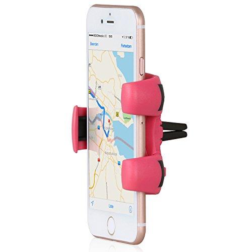 Wicked Chili Pro Mount universal KFZ Lüftungshalterung, Handyhalterung für die Auto Lüftung (Autozubehör Made in Germany, kompatibel mit Case und Hülle) rosa / erikarot
