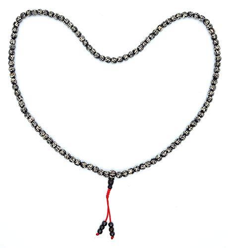 - Hands Of Tibet Yak Bone Mala 108 Beads Necklace, Natural Himalaya Yak Bone Prayer Beads Wrist Mala Wrap Bracelet Yoga Healing for MeditationMany Choice (Om Mani Padme Hum)