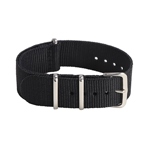 Premium Canvas Fabric Watch Bands Ballistic Nylon Straps Width 16mm 18mm 20mm 22mm 24mm