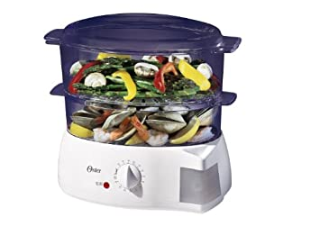 Oster 5711 Electronic 2-Tier 6.1-Quart Food Steamer, White