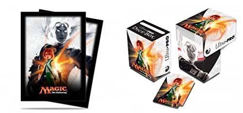 BUNDLE: Magic: the Gathering - MTG Magic Origins Planeswalker Chandra Nalaar (Deck Box & 80 Sleeves)
