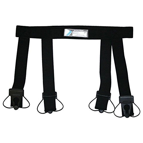 Bauer Youth Garter Belt, Black, Medium - Hockey Belt