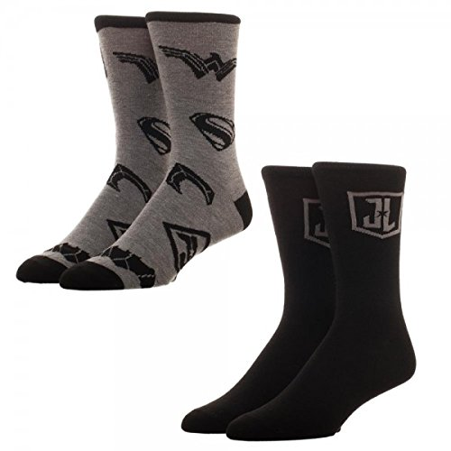 Justice League Mens Crew Socks - Justice Shoes League