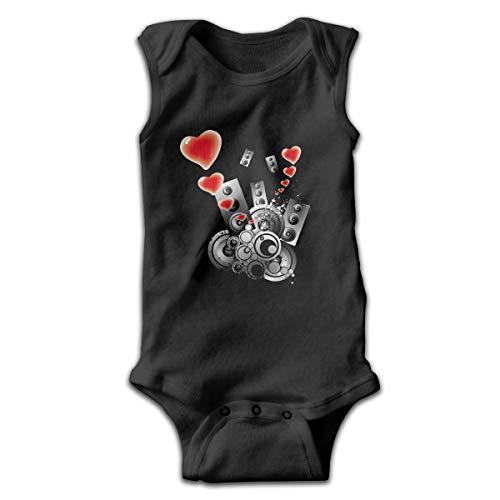 Address Verb Baby Sleeveless Bodysuits Sound Music Unisex Cute Lap Shoulder Onesies Black
