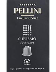 Pellini Caffè, Espresso Pellini Luxury Coffee Supremo, Compatibili Nespresso, Astuccio da 30 Capsule
