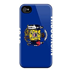 Hot ZyvuP7565ohnMx Case Cover Protector For Iphone 4/4s- Wisconsin
