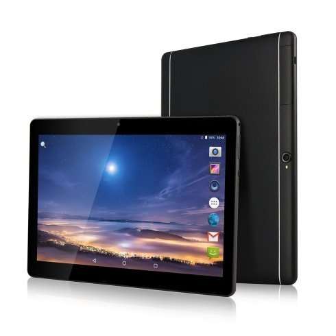 Batai 10 inch Tablet 2560X1600 IPS Octa Core RAM 4GB ROM 64GB Processor 2GHz 8.0MP 3G MTK6592 Dual sim card Phone Call Tablets PC Android 6.0 GPS (Black)