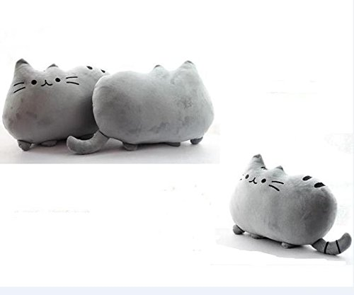 Amazon.com: Cartoon Cat Shaped Throw Pillow Home Decorative Cushion Child Soft Plush Toy (Grey): Baby