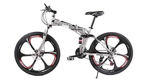 EGO TECHNOLOGY Bicicleta Plegable 26´ Doble Suspension Shimano Montaña Ciclism