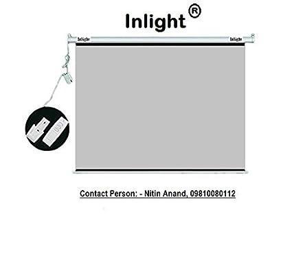 Inlight Imported Motorised Projector Screen In 3d Grey Amazonin