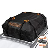 Rooftop Cargo Bag - (15 Cubic Feet) Heavy Duty Roof Bag - 100% Waterproof Excellent Quality Car Top Carrier Bag Fits All Cars with/Without Rack - Roof Top Car Bag