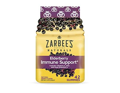 Zarbee's Adult Elderberry Immune Support Gummies, 42 Count
