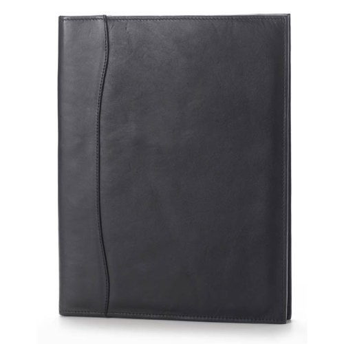 (Clava Quinley Leather Pocket Padfolio in Black)