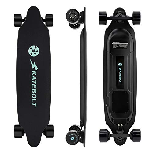 SKATEBOLT Electric Skateboard Longboard with Remote Controller, 25 MPH Top Speed, 22 Miles Max Range, Dual Motors Electric Longboard with LED Taillights & Updated Functions - 3rd Generation