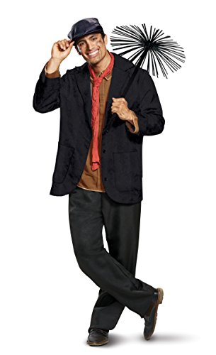 Disguise Men's Plus Size Bert Deluxe Adult Costume, Gray, XXL (50-52) -