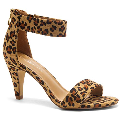 Yellow Leopard - Herstyle RROSE Women's Open Toe High Heels Dress Wedding Party Elegant Heeled Sandals Leopard 6.0