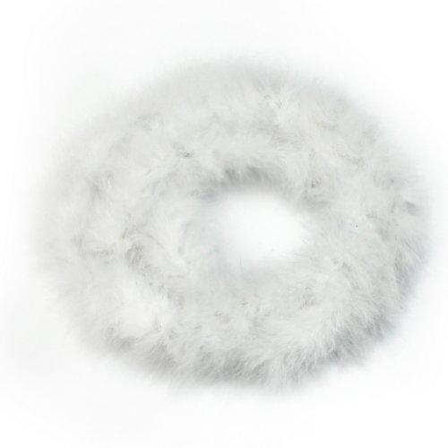 Refaxi®2m Fluffy Feather Boa Strip Fancy Dress Party Wedding Decoration Xmas Gift (White)
