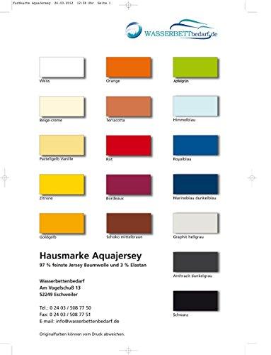 Aqua Jersey Stretch Wasserbett Spannbettlaken Elastan Baumwolle Wasserbetten Spannbetttuch Übergröße 18 Farben 180x200 bis 220x200 (orange)