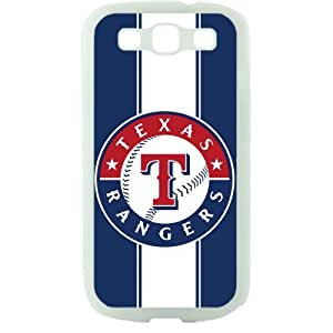 MLB Major League Baseball Texas Rangers Samsung Galaxy S3 SIII I9300 TPU Soft Black or White case (White) by icecream design