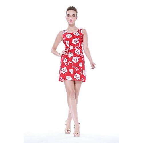 8255082d1 Hawaii Hangover Matching Mother Son Hawaiian Luau Women Dress Boy Shirt Red  Hibiscus
