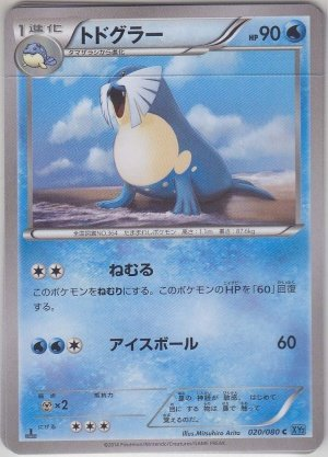Pokemon Card Japanese - Sealeo 020 XY2 - 1st Edition Common