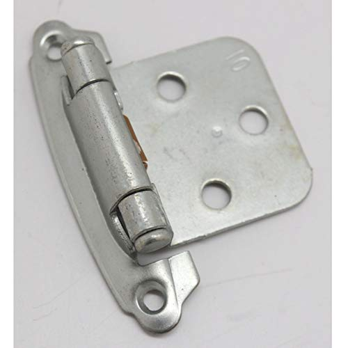 - Pair BELWITH Chromolux Flush Overlay Cabinet Door Hinge Satin Chrome P244-CLX