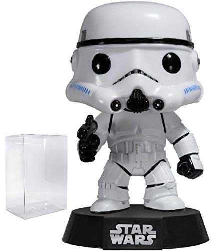 Funko Pop! Star Wars: Classic Stormtrooper #05 Vinyl Bobble-Head Figure (Bundled with Pop Box Protector Case)