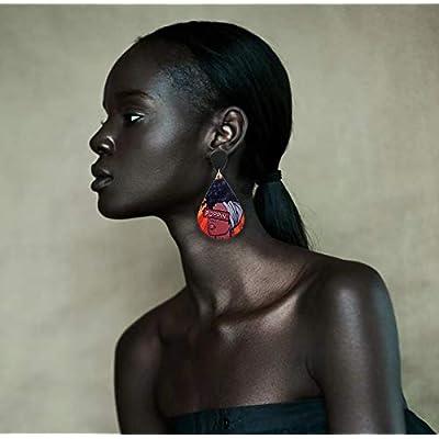 Wooden Rectangle Dangle Earrings Lightweight Boho - Gift Nature Statement